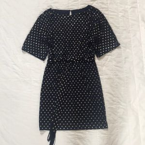 Jessica Simpson Dress- Blue and Gold Dots